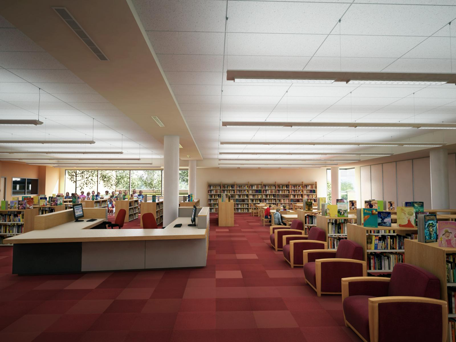 Skinner Elementary School Library without Clerestory