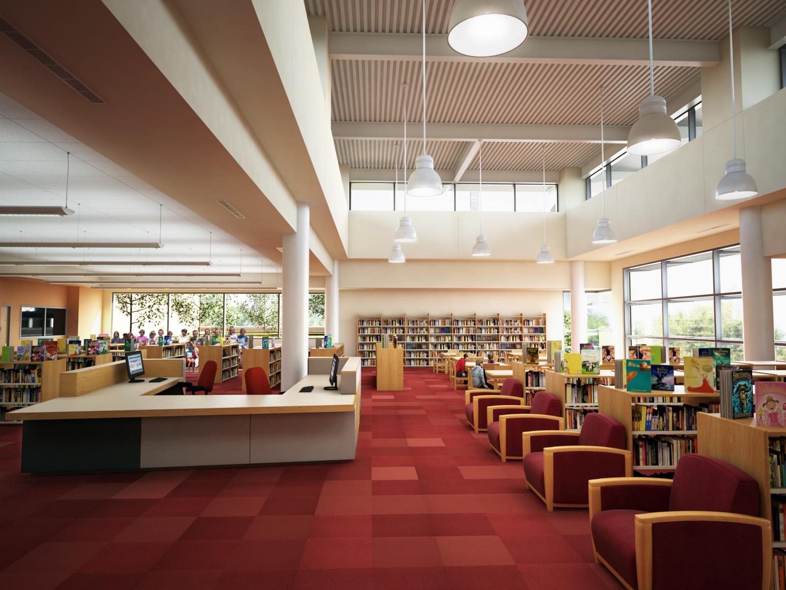 Skinner Elementary School Library with Clerestory